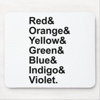 ROYGBIV Red Orange Yellow Green Blue Indigo Violet Mouse Pad