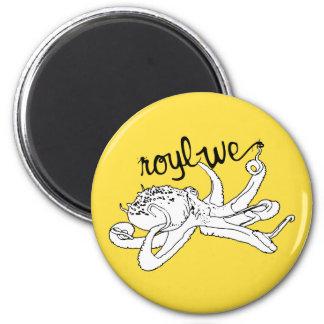 Roylwe Octo 2 Inch Round Magnet