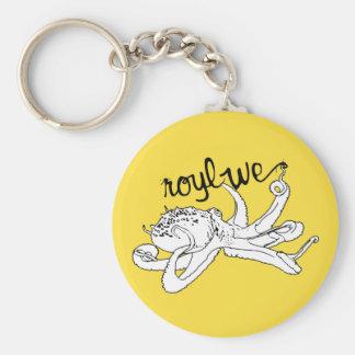 Roylwe Octo Basic Round Button Keychain