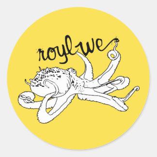Roylwe Octo Classic Round Sticker