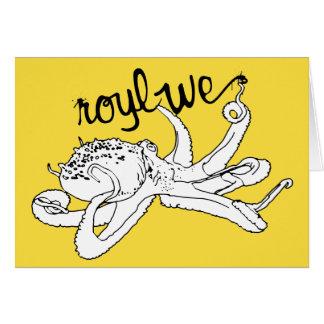 Roylwe Octo Greeting Card