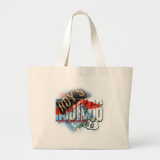 Roy's Cafe Motel - Route 66 Large Tote Bag