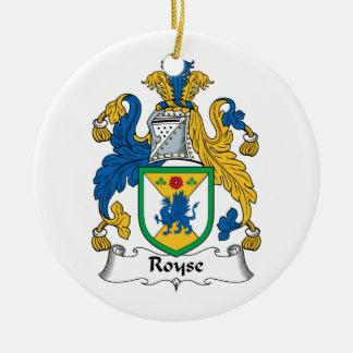 Royse Family Crest Christmas Ornaments