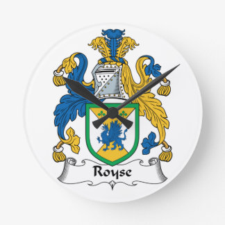 Royse Family Crest Clocks