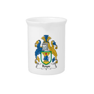 Royse Family Crest Drink Pitcher