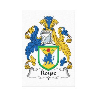 Royse Family Crest Gallery Wrapped Canvas