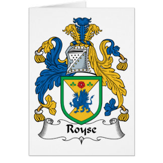 Royse Family Crest Greeting Cards