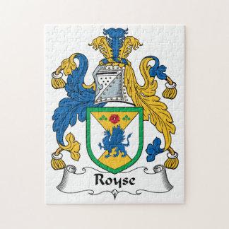 Royse Family Crest Jigsaw Puzzle