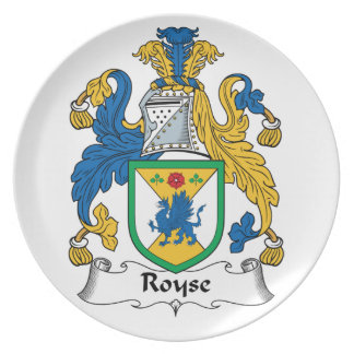 Royse Family Crest Party Plates