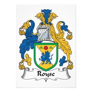 Royse Family Crest Personalized Invites