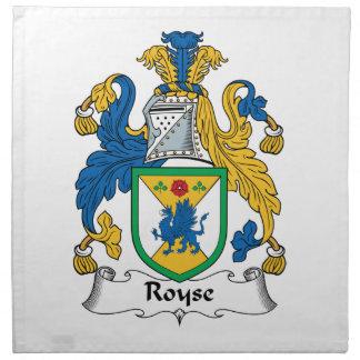 Royse Family Crest Printed Napkin