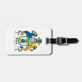 Royse Family Crest Tags For Bags