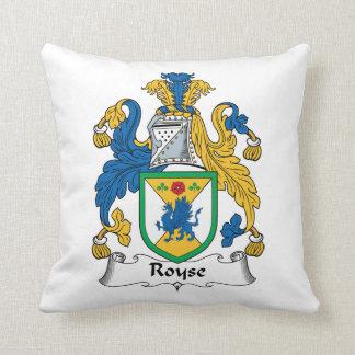 Royse Family Crest Throw Pillow