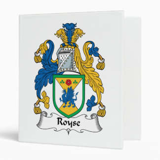 Royse Family Crest Vinyl Binder