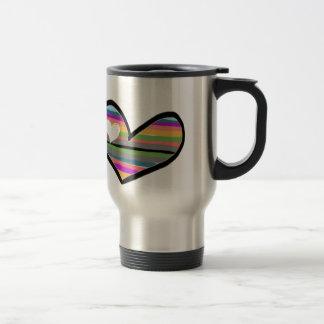rozan herz con multicolor llenado taza térmica
