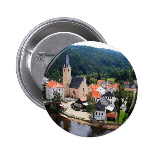 Rozmberk town 2 inch round button