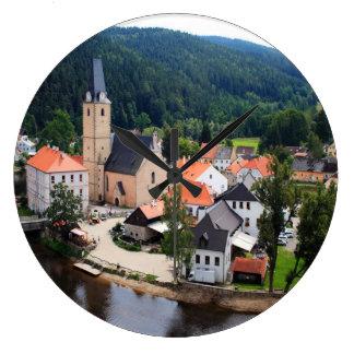 Rozmberk town wallclocks