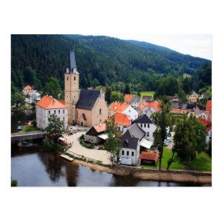 Rozmberk town postcard