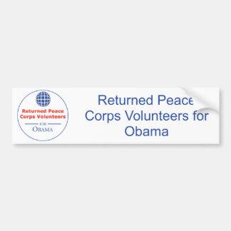 RPCVS para la pegatina para el parachoques de Obam Pegatina Para Auto
