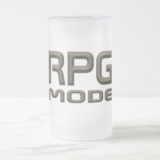 RPG Basic Mode Style Frosted Glass Beer Mug