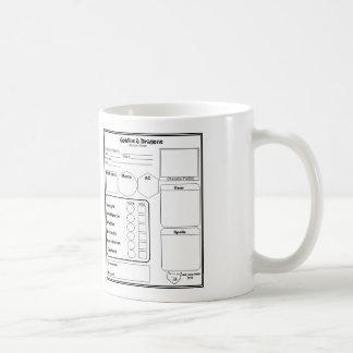 RPG Character Sheet Mug