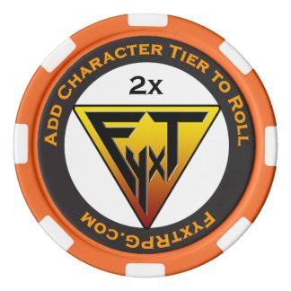 RPG de Fyxt +2 fichas de póker del símbolo de la Juego De Fichas De Póquer