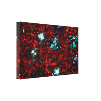 RPG dice wrapping paper Canvas Print