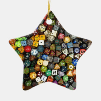 RPG game dice Ceramic Ornament