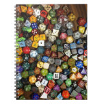 RPG game dice Spiral Notebook