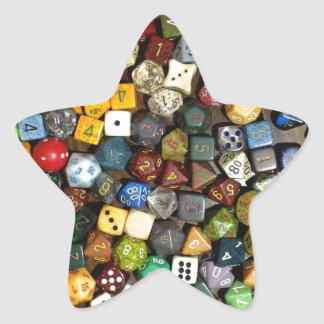 RPG game dice Star Sticker