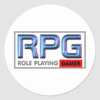 RPG Gamer Lifestyle Classic Round Sticker
