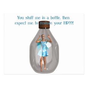 Rpg Hit Point Fairy In Bottle Postcard