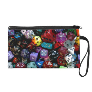 RPG Multi-sided Dice Wristlet Clutches