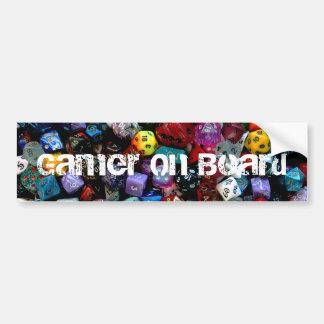 RPG Multi-sided Dice Bumper Sticker