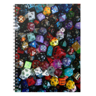 RPG Multi-sided Dice Notebook