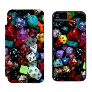 RPG Multi-sided Dice Wallet Case For iPhone SE/5/5s