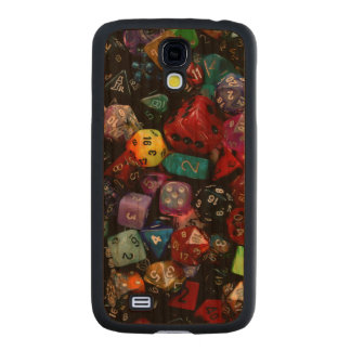 RPG Multi-sided Dice Carved® Cherry Galaxy S4 Slim Case