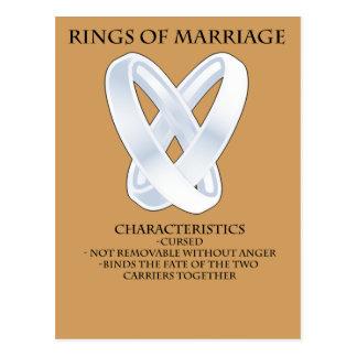 RPG Rings of marriage Postcard