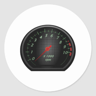RPM Gauge Classic Round Sticker