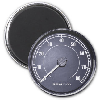 """""""RPM Gauge"""" design gifts and products 2 Inch Round Magnet"""