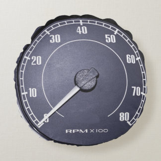 """RPM Gauge"" design gifts and products Round Pillow"