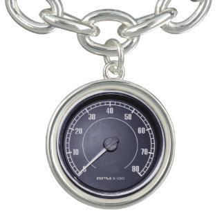 """RPM Gauge"" design jewelry set Charm Bracelet"