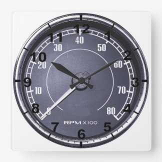 """RPM gauge"" design wall clocks"