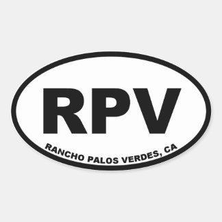 RPV Rancho Palos Verdes oval Oval Sticker