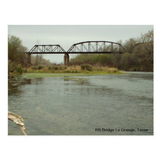 RR Bridge La Grange, Texas Postcard
