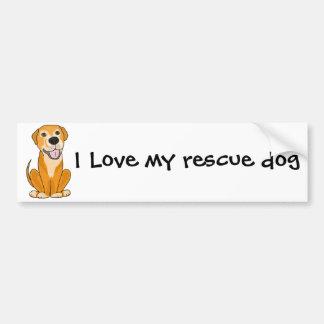 RR- Cute Funny Rescue Dog Puppy Cartoon Car Bumper Sticker