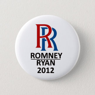 RR Romney Ryan '12 Button