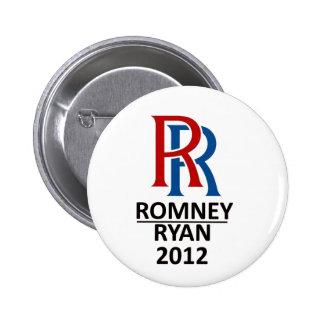 RR Romney Ryan '12 Pin Redondo 5 Cm