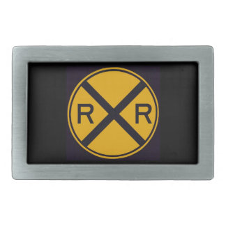RR sign Rectangular Belt Buckles