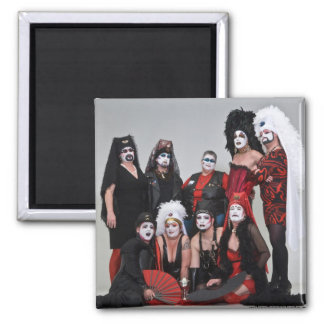 RR Sisters Holiday Photo 2 Inch Square Magnet